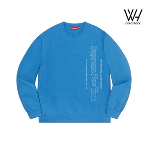 SUPREME SIDE LOGO CREWNECK