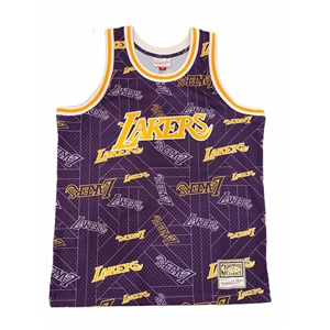 M&N TEAR UP LAKERS JERSEY