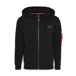 ALPHA INDUSTRIES BACK PRINT ZIP HOODY