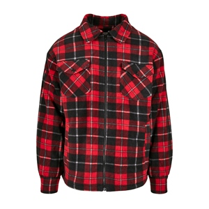 TB PLAID TEDDY SHIRT JACKET
